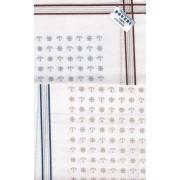 - Férfi zsebkendő 2db (fehér, horgonyos-kormányos minta)