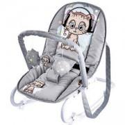 Бебешки шезлонг с гриф Top Relax, Lorelli, Grey Cute Kitten, 0740227