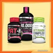 L-Carnitine 100.000 Liquid + Fat-X + Vitamin Complex (set)