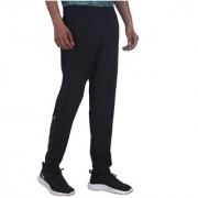 Adidas Black Polyester Lycra Trackpants