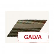 Pointes 34° crantées GALVA 3.1x90 boite de 2200 SANS gaz