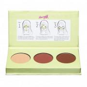 Barry M Flawless Chisel Cheeks Contour Kit 2,5 g púder pre ženy Light - Medium