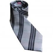 Distino Of Melbourne Burbesque Slim Nude Silk Necktie Grey NS1
