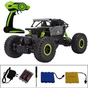 Threeking RC Rock Off-Road Vehicle 1:18 2.4Ghz 4WD RC Cars Racing Cars Remote Radio Control Cars Electric Rock Crawler Electric Buggy Hobby Car Fast Race Crawler Truck-Green