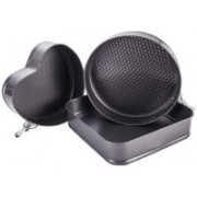 WAMA RETAILS Cup Cake/Bread Mould (Pack of 3) Cupcake Maker(Black, Non-stick Coating)