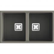 Poalgi - Lava-louças de 2 pias Tundra 75 x 45 cm Zie Poalgi