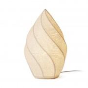 Hervit Creations Lampada in porcellana biscuit Fiamma traforata 18x30cm