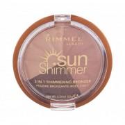 Rimmel London Sun Shimmer 3in1 бронзант 9,9 гр за жени 002 Bronze Goddess