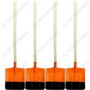 Pachet - 4 x Lopata ruseasca portocalie cu coada
