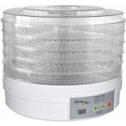 Mantavya Adjustable Thermostat for Food Fruit Electric Food Dehydrator with 5 Stackable Tray Food Steamer(10 L, White)