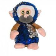 Детска плюшена играчка - Маймунка с пайети, 14см., 391085