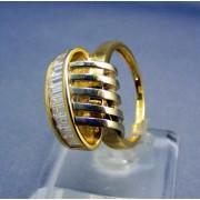 Zlatý dámsky prsteň extravagantný žlté zlato s kamienkami VP58551Z