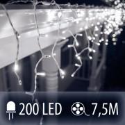 LED SVETELNÁ ZÁCLONA 200LED 7.5M STUDENÁ BIELA