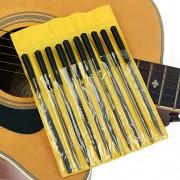 10 PCS Nut Fret Pin File Hole Slot Diamond Needle Guitar Repair Luthier Tool Kit