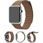 EY IWatch Apple Seguir Coleccionables Bucle De La Correa De Cuero Cikou 42MM (lleno) De Color Marrón-marrón