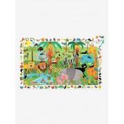 DJECO Puzzle de observação, A Selva, com 35 peças, da DJECO bege medio liso com motivo