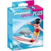 Surfer cu placa pe surf Playmobil