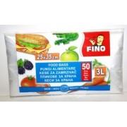 Pungi Alimentare Fino 3L 50 Bucati 25x35cm