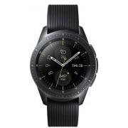 """Smartwatch Samsung Galaxy Watch SM-R810, Procesor Dual-Core 1.15GHz, Circular Super AMOLED 1.2"""", 768MB RAM, 4GB Flash, Bluetooth, Wi-Fi, Bratara silicon, 42mm, Tizen (Negru)"""