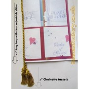 "A5 Roman Gold Tassels with Twin Chainette GOLD Tassels 9.5"" - 10pcs/pack"