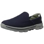 Skechers, Tenis Casuales para Hombre, Go Walk 3 53980, Azul Marino, 27 Ancho Medio