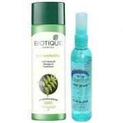 Biotique Bio Margosa Anti-Dandruff Shampoo Conditioner with Pink Root Hair Serum Pack of 2