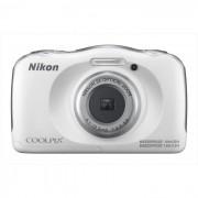 Nikon W100 Coolpix Fotocamera Compatta 13,2 Mpx Zoom Ottico 3x Colore Bianco + Z