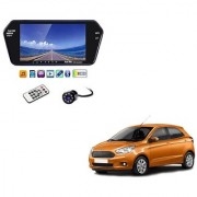 7 Inch Full HD Bluetooth LED Video Monitor Screen with USB Bluetooth + 8 LED Reverse Parking Camera For Ford Figo