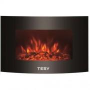 Декоративна стенна електрическа камина Tesy WEF 200 SRELW TR, LED-пламък, 2000 W, Термостат
