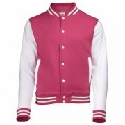 AWDis Roze/witte katoenen school jas voor heren
