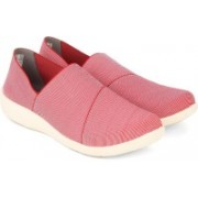 Clarks Sillian Firn Red Canvas Shoes(Red)