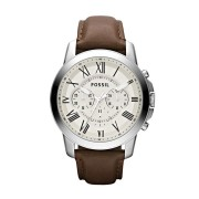 Fossil Men's Leather Watch Model - FS4735 (Brown)