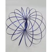 Flow Rings - Blå Arm-Spinner i Metall