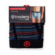 Traders Black Multi Striped Trunks #20J