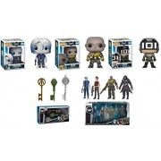POP Funko Ready Player One: Parzival + Aech + Sixer + Copper Key + Jade Key + Crystal Key + Collectible Action Figures 4 Pack - Stylized Vinyl Figure Bundle Set New