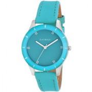 Laurels Cyan Color Analog Women's Watch With Strap: LWW-COLORS-161607