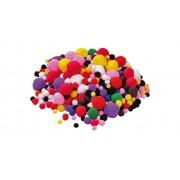 Betzold 525 bunt gemischte Pompon-Bälle
