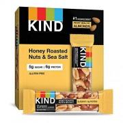 KIND Bares, nueces tostadas con miel y sal marina, sin gluten, azcar bajo
