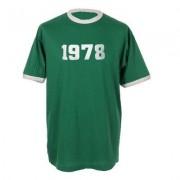 geschenkidee.ch Jahrgangs-Shirt für Erwachsene Grün/Weiss, Grösse L