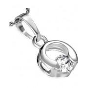 Circle Unique - Silverfärgat smycke med Klar Sten