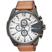 Diesel Stopwatch Chronograph White Dial Mens Watch - Dz4280I