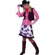 Geen Cowboy blouse voor dames rood/wit