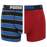 Boxershorts Rugby Stripe 2-pack Rood & Blauw