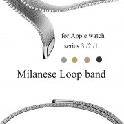 Apple Milanese Loop Band for Apple Watch 38mm 42mm Stainless Steel Metal Mesh Bracelet Strap Wrist Watchband for iwatch Series 3 2 1