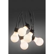 Konstsmide LED-Biergartenkette, 80 Dioden, opal, L14,5 m