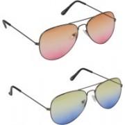 ROBMOB Aviator Sunglasses(Multicolor)