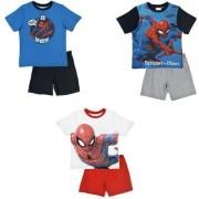 Spider-Man Spiderman Set Shorts och T-shirt barn (Vit, 4 ÅR - 104 CM)