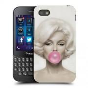 Husa BlackBerry Q5 Silicon Gel Tpu Model Marilyn Monroe Bubble Gum