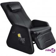 vidaXL Električna Masažna Fotelja Zero Gravity od Umjetne Kože Crna