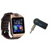 Mirza DZ09 Smart Watch and Car Bluetooth for LG OPTIMUS L9.(DZ09 Smart Watch With 4G Sim Card Memory Card| Car Bluetooth)